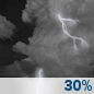 Saturday Night: Chance Showers And Thunderstorms