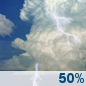 Friday: Chance Showers And Thunderstorms