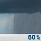 Saturday: A chance of showers.  Cloudy, with a high near 53. Chance of precipitation is 50%.